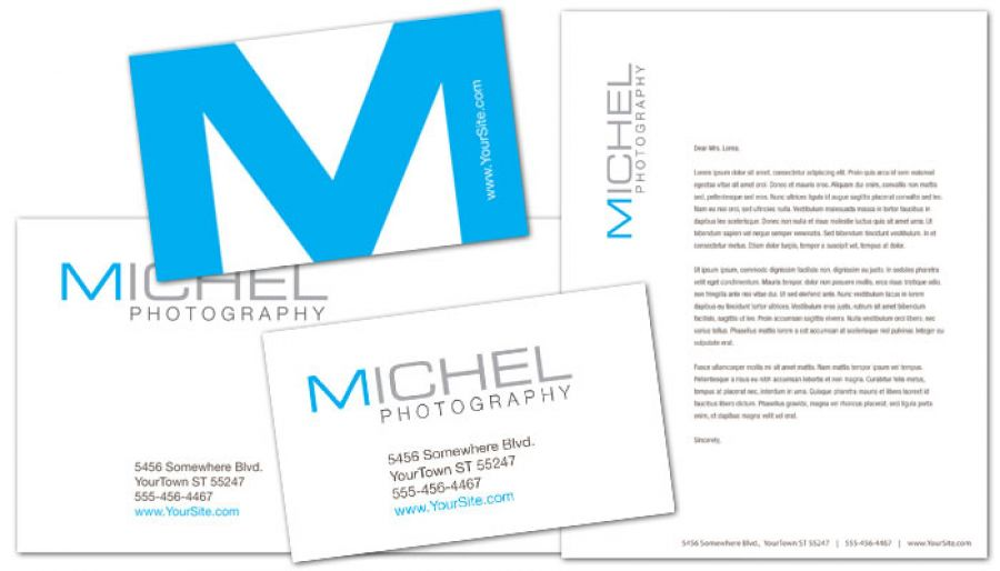 Wedding Photographer Business Card Design Layout