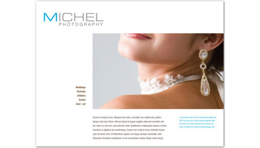 Wedding Photographer Website Design Layout