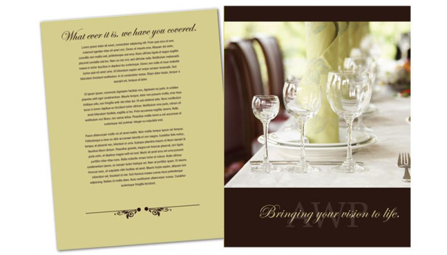 Wedding Planner Flyer Design Layout