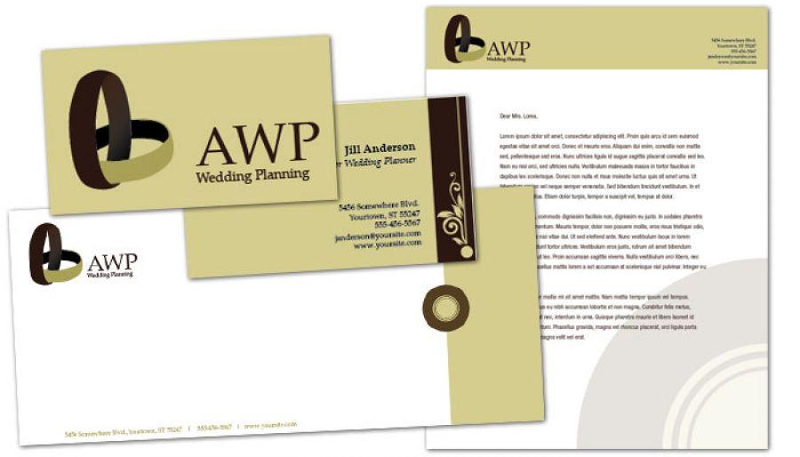 Wedding Planner Letterhead Design Layout