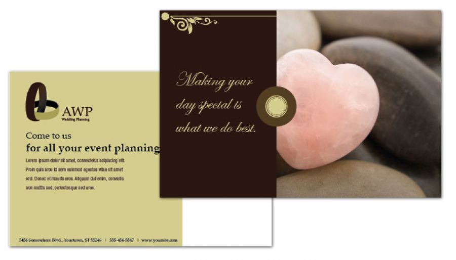 Wedding Planner Postcard Design Layout